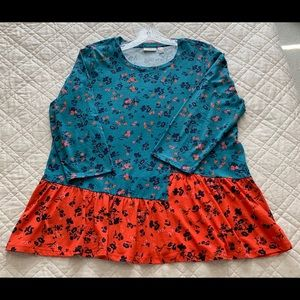 Logo by Lori Goldstein Floral Top, L, Never Worn